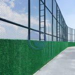 pvc örgü tel üzeri çim çit uygulaması