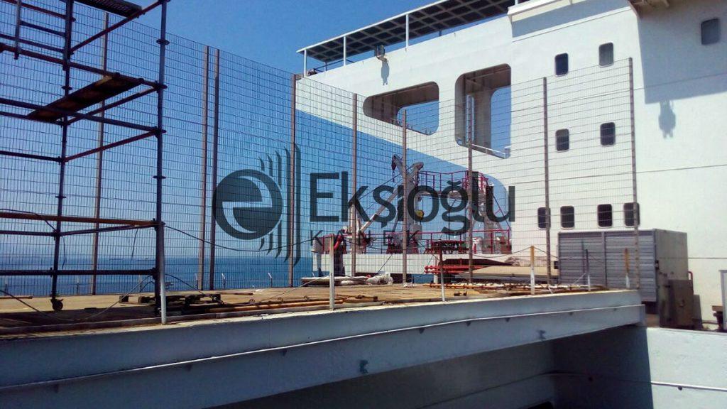 ticari yük gemisi yüksek güvenlikli panel tel çit